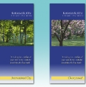 Promotional brochures for residential rental properties.